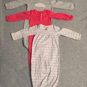 2 Carter's 1 Circo Newborn Bunting Gently Used